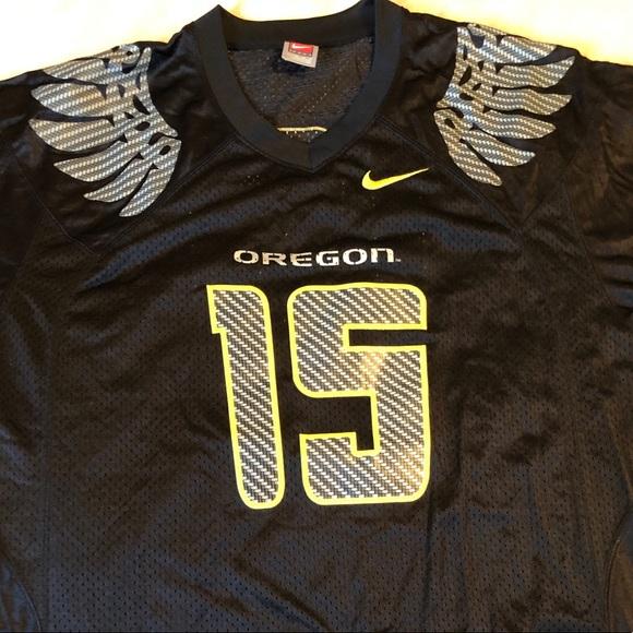 Large Patrick Chung football jersey- Oregon Ducks.